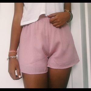 Pants - high waisted light pink shorts